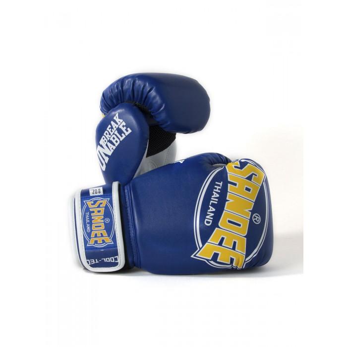Sandee Kids Cool-Tec Boxing Gloves Muay Thai Kickboxing 4oz 6oz 8oz Blue Yellow