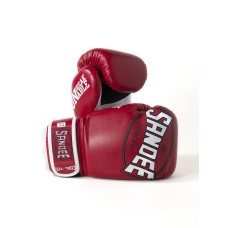 Sandee Kids Cool-Tec Gloves Boxing Muay Thai Kickboxing 4oz 6oz 8oz Red White