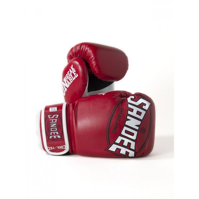 Sandee Kids Cool-Tec Gloves Boxing Muay Thai Kickboxing 4oz 6oz 8oz Red White