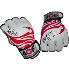 AQF Leather MMA Gloves Gel Tech MMA UFC Grappling Gloves Fight Boxing Punch Bag