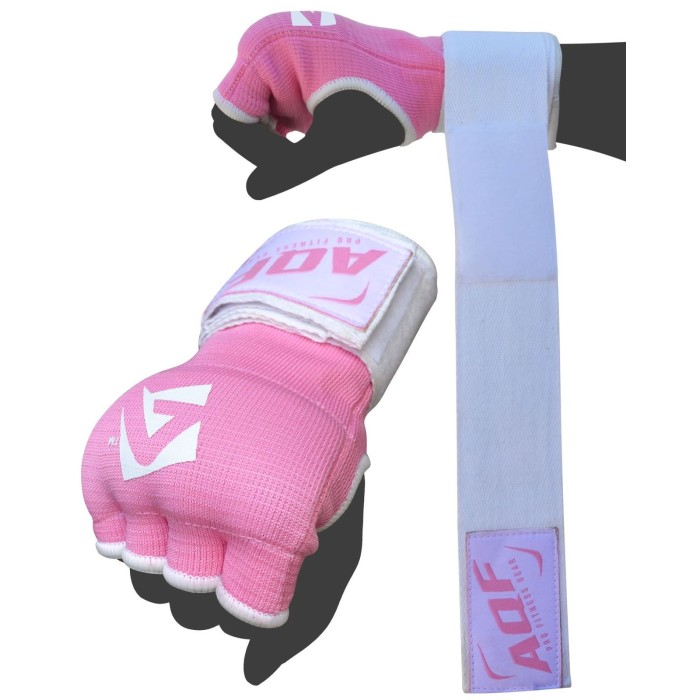AQF Ladies Inner Hand Quick Wraps Gloves Boxing Fist Pink Bandages MMA Women Gym