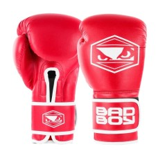 Bad Boy Strike Boxing Gloves Red Boxing Kickboxing Striking Training Sparring