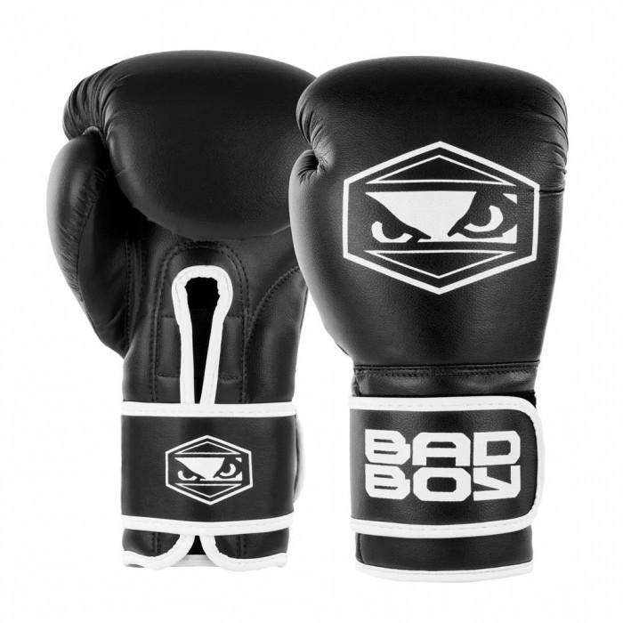 Bad Boy Strike Boxing Gloves Black Boxing Kickboxing Striking Training Sparring
