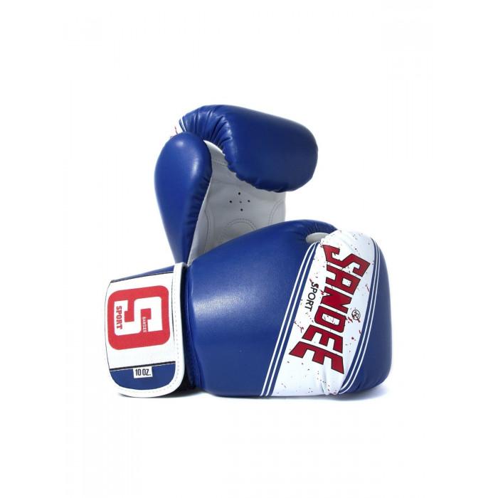 Sandee Sport Boxing Gloves Blue White Muay Thai Boxing Kickboxing K1 Striking