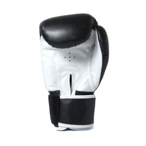 Sandee Sport Black /& White Synthetic Leather MMA Sparring Gloves