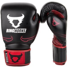 Ringhorns Destroyer by Venum Leather Boxing Gloves Sparring Red 10 12 14 16 oz