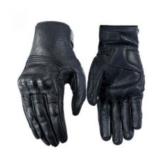 Black Waterproof Gloves Motorcycle Cycling Riding Racing Leather Gloves