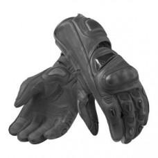 Full Black Waterproof Motorbike Motocross Full Finger Leather Gloves