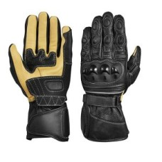 Genuine Leather Motorcycle Winter Gloves Long Wrist