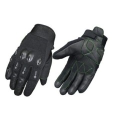 Motorbike Full Finger Black Safety Leather Racing Gloves
