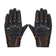 Orange Waterproof Gloves Motorcycle Cycling Riding Racing Leather Gloves