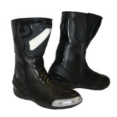 Real Quality Black Motorcycle Riding Boots Sport Shoes