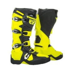Top Quality Yellow Mens Motorbike Leather Boots