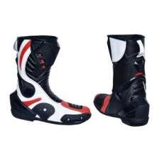 Arrow Gear Black Leather New Motorcycle Boots