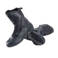 Black Breathable Sports Style Leather Motorcycle Boots
