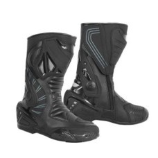 Black Genuine Cow Hide Leather Motorbike Touring Boot