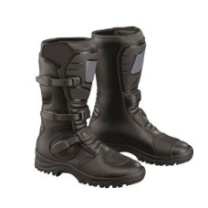 Black High Quality Genuine Cow Hide Leather Motorbike Touring Boot