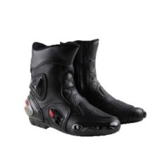 Black Real Quality Genuine Cow Hide Leather Motorbike Touring Boot
