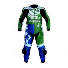 American Honda Moriwaki Motorcycle Racing Leather Suit