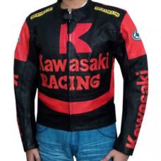 Kawasaki Branded Motorbike Leather Jacket BMJ