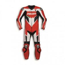 Ducati Motorbike Racing Real Leather Suit