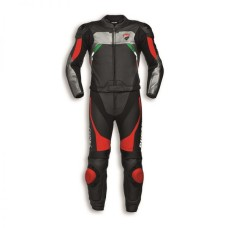 Ducati Corse C3 Two Piece Motorcycle Racing Leather Suit