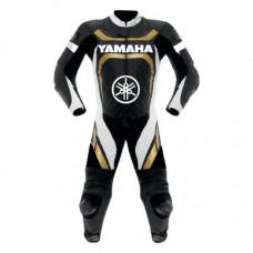 Golden Yamaha Motorcycle Racing Style Leather Motogp Suit