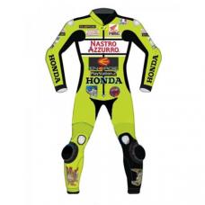 Honda Nastro Azzurro Motorcycle Motogp Motorbike Racing Leather Suits