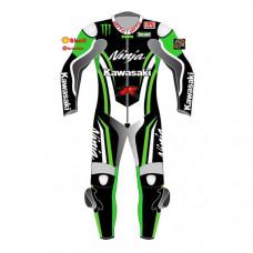 Kawasaki Customize Motorbike Leather Racing Suit