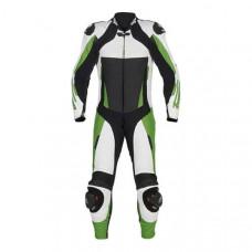 Kawasaki Green Motorbike Leather Racing Suit
