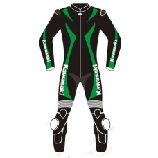 Kawasaki Ninja Black & Green Motorcycle Suit