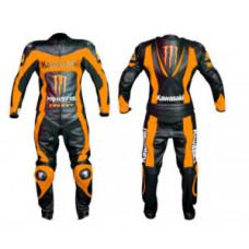 Kawasaki Ninja Monster Energy Fire Look Racing Motorcycle Leather Suit