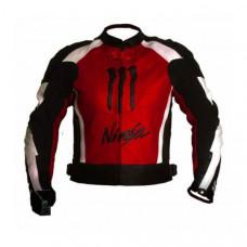 Kawasaki Ninja Motorbiker Red Racing Leather Jacket