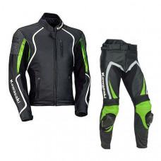 Kawasaki ZX Motorbike Racing Real Cowhide Leather Suit