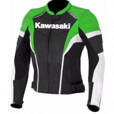 Ladies Kawasaki Ninja Motorcycle Leather Jacket