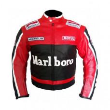 Marlboro Motorcycle Racing Leather Jacket Men