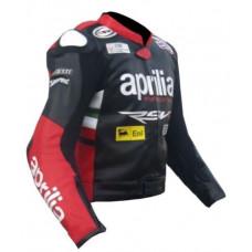 Max Biaggi Aprilia Motorcycle Leather Jacket