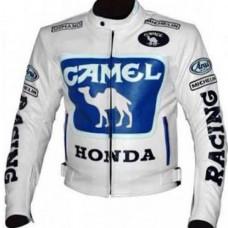 Max Biaggi Camel Honda Motorcycle Leather Motogp Jacket