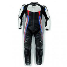 Men Handmade BMW Motorrad Black White Racing Motorcycle Leather Suit