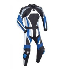 Men Motorcycle Leather Racing Blue Suit