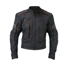 Men Racing Biker Motorcycle Leather Jacket