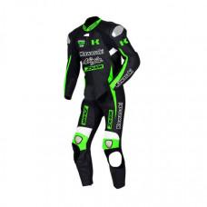 Men's Green Kawasaki Ninja Motorcycle Racing Leather Suit