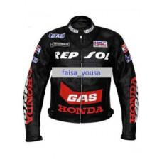 Men's Honda Repsol Gas Motorbike Leather Jacket