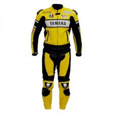 Men's Yamaha Yellow Motorbike Racing Leather Suit