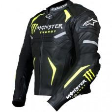 Monster Energy Motorbike Racing Real Leather Jacket