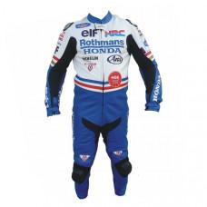 Rothman's Honda Motorcycle Racing Leather Suit