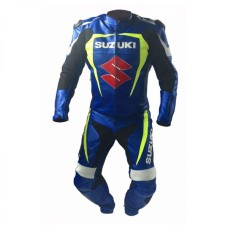 Suzuki Gsxr Motorcycle Racing Style Leather Suit