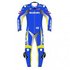 Suzuki Motorbike Leather Racing Suit – Biker Suit