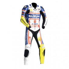 SUZUKI Motorbike Sport Leather Suit