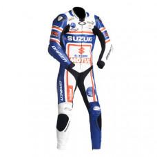 SUZUKI Motorcycle Branded Sport Leather Suit